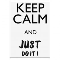 "Sticker Mural Keep Calm ""Do It"" 30x40cm Noir"