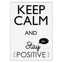 "Sticker Mural Keep Calm ""Positive"" 30x40cm Noir"