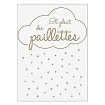 "Sticker Mural Kids ""Paillettes"" 50x70cm Or"