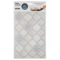 "Lot de 2 Stickers Carrelage ""Orient"" 20x36cm Bleu"