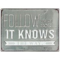 "Sticker Relief ""Follow Soul"" 30x40cm Gris"