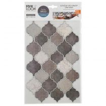 "Lot de 2 Stickers Carrelage ""Orient"" 20x36cm Taupe"