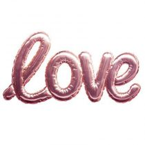 "Sticker Ballon ""Love"" 24x47cm Rose"