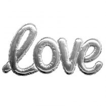 "Sticker Ballon ""Love"" 24x47cm Argent"
