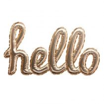 "Sticker Ballon ""Hello"" 22x40cm Or"
