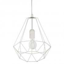 Lampe Suspension Métal 26cm Blanc