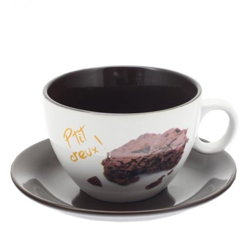 "Tasse & Soucoupe Gourmande ""Brownies"""