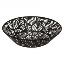"Centre de Table en Métal ""Jungle"" 28cm Noir"